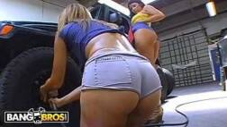 Mulheres gostosas de shorts curtos