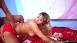 Videos porno hd do Brasil com bunduda dos peitos lindos sendo arrombada de quatro pelo mulato