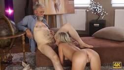 Avô metendo a rola na sua netinha muito gostosa