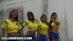 Orgia com latinas que fuderam as bucetas